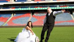 Wedding on the Field - Courtesy of Everlong Images