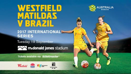 Matildas to Play Brazil in Newcastle