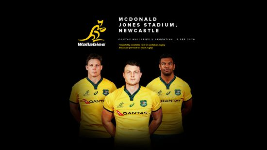 Newcastle to host 2020 Qantas Wallabies Rugby Championship clash